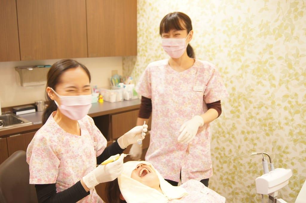 予防歯科専用ルームで歯科衛生士の練習